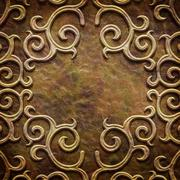 Gold metal pattern on paper backgrond (vintage collection) Stock Illustration