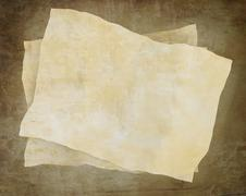 Vintage background with old paper and letters - stock illustration