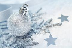 Wintry christmas decorations Stock Photos