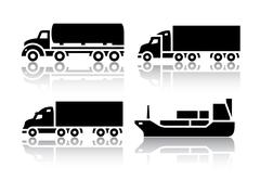 Set of transport icons - Freight transport Stock Illustration