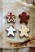 4 gingerbread men - stock photo