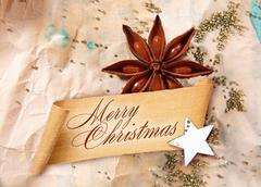 merry christmas greeting - stock illustration