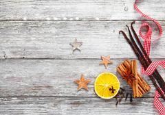 Decorative christmas spices Stock Photos