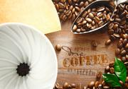 Stock Illustration of portable filter with coffee beans