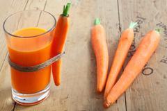 Freshly blended carrot juice Stock Photos