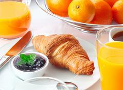 tasty continental breakfast - stock photo