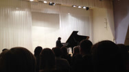 Stock Video Footage of Audience listening to pianist Vladimir Mischouk  in Petrozavodsk philharmonic