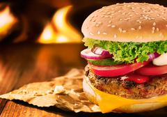 Whopper cheese burger Stock Photos