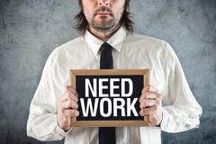 Businessman needs work Stock Illustration