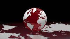 World globe reflection loop background - 1080p Stock Footage