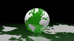 World globe reflection loop background ecology - 1080p Stock Footage