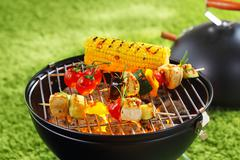 corncob en brochette - stock photo
