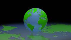 World globe bio reflection loop background - 1080p Stock Footage