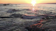 Stock Video Footage of A beautiful sunset over the ocean.