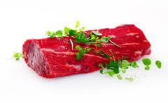 Healthy lean uncooked fillet steak Stock Photos