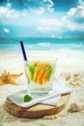 Delicious gin or vodka citrus cocktail Stock Photos