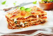 Stock Photo of traditional lasagna with bolognese sauce
