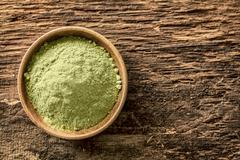 green tea powder - stock photo