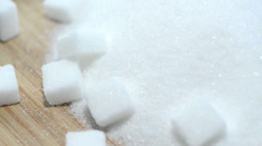 Stock Video Footage of portion of white sugar (loopable)
