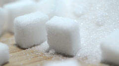 Portion of white sugar (loopable) Stock Footage