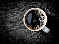 Mug of fresh full roast filter coffee Stock Photos