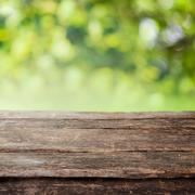 Rustic wooden country fence plank or table top Stock Photos