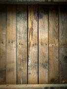 grungy stained and weathered wooden table - stock photo