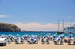 A beach on the canarys Stock Photos