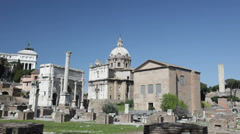 Pan view of Roman Forum, Rome, Italy - HD1080P Canon 5DMkII Stock Footage