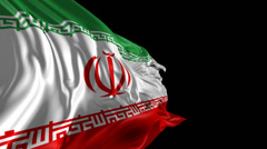 Flag of Iran Stock Footage