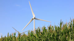 Power Generating Windmills in a countryside landscape - HD1080P by Canon 5DmkII Stock Footage