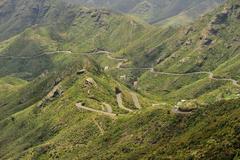 the way to Masca at Tenerife, Canary Island - stock photo