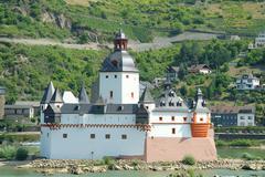 castle on an island - stock photo