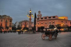 Sevilla by night Stock Photos
