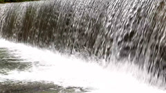 Side view of waterfall: water supply concept -HD1080P by Canon 5DMkII Stock Footage