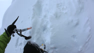 Stock Video Footage of Winter climbing. Dolomiti (East Alps), Trentino, Italy, Europe.
