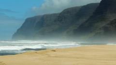 Palihale Beach Kauai Hawaii Stock Footage