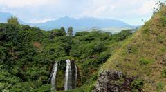 Opaeka'a Falls Kauai Hawaii Stock Footage