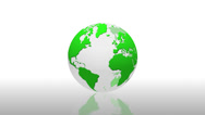 Stock Video Footage of News world globe green reflection loop