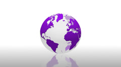 World globe news animated reflection loop - 1080p - stock footage