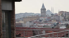 Galata Tower Stock Footage