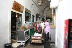 Fast food in the medina Stock Photos