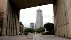 Yokohama tower - stock footage