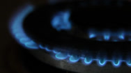 Stock Video Footage of Close-up of a gas cooker flame burning. HD1080P