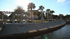 St. Augustine riverfront - stock footage