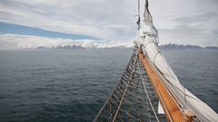 Navigate the north Atlantic on a traditional icelandic sailboat. Atlantic Ocean, Stock Footage