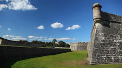 St. Augustine fort side - stock footage