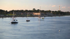 St. Augustine fort and river - stock footage