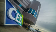 Stock Video Footage of CES Sign Time Lapse