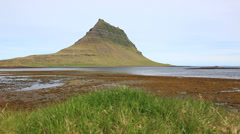 Kirkjufell, the famous church-shaped mountain. Snafellsnes Peninsula, Iceland, Stock Footage